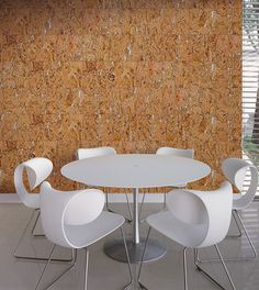 Cork Wall Tiles add a unique twist on the traditional modern dining room look. With a marbled affect, these wall tiles will freshen up your home in no time. Diy Design, Wall Design, House Design, Interior Design, Cork Wall Tiles, Decorative Wall Tiles, Muebles Art Deco, Cork Flooring, Art Deco Furniture