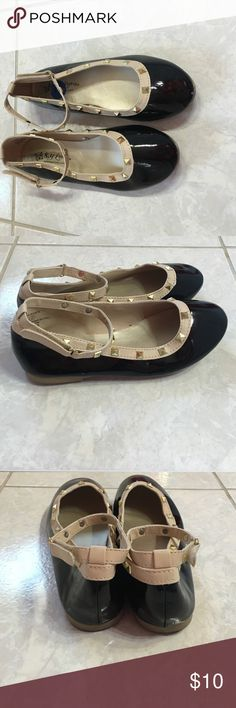 Little girls size 2 Designer inspired Worn once only signs of wear are soles size 2 little girls Valentino inspired Mary Jane black patent. Comes from pet and smoke free home Shoes Dress Shoes