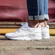 "More great styles from Asics. This triple white Gel-Lyte V in suede and perforated leather is now available. How clean can a sneaker get. Price: €119.90/1199kr. Do not forget if you use our back to school/work code ""IMBACK"", you will get €10/100kr on orders over €100/1000kr. Works both on sale and full price.  #asics #calirootsstore #sfdsneakers"