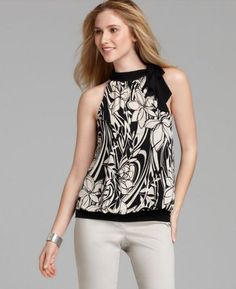 Black and White top - classy and elegant