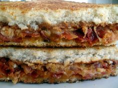 barbecue bacon grilled cheese