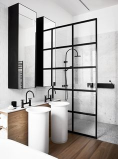 Bathroom from modern refurbishment and extension of an Edwardian house in Melbourne by Whiting Architects. Photography: Sharyn Cairns | Story: Belle