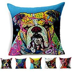Cotton Linen Square Decorative Throw Pillow Cover Cushion Case Shams ( dog Set of 1 in Sofa Home for Inserts Dog Christmas Gifts, Christmas Animals, Christmas Home, Gifts For Dog Owners, Dog Lover Gifts, Dog Lovers, Custom Pillows, Decorative Throw Pillows, Throw Pillow Cases
