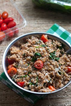Bulgur is a high-fiber, quick-cooking grain hailing from Middle Eastern cuisine that has serious versatility in the kitchen. Try it for yourself with these 20 easy dinners you can make with bulgur. Grilled Halloumi, Grilled Fruit, Bulgur Recipes, Rice Recipes, Moroccan Salad, Moussaka Recipe, Rainbow Salad, Bulgur Salad, Healthy Salad Recipes