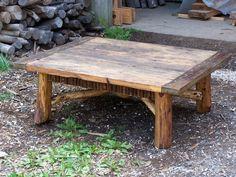 Hemlock, locust and rhodo coffee table