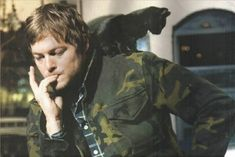 <b><i>The Walking Dead</i> star has an adorable furry companion to keep him warm when the zombie apocalypse comes.</b>