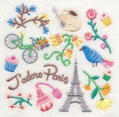 J'adore Paris Collage