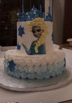 Frozen birthday cake #frozen #birthdaycake #elsa #party