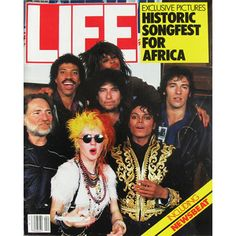 Life Magazine, April 1, 1985 - We Are The World Rock Stars. $24.95 USD Only 1 available