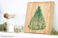 Christmas Tree String Art ~ Rustic Glam Christmas Mantel