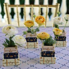 Suitcase Ceramic Bud Vase | Kate Aspen