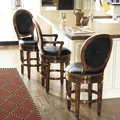 """Berkshire Counter Stool with Arms, seat height: 25"""" (Ballard Designs)"""