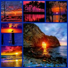 Colorful Sunset Collage by Judy Waits