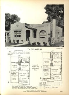 The CALAVERAS - Home Builders Catalog: plans of all types of small homes by Home Builders Catalog Co. Published 1928