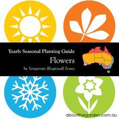 Seasonal Gardening Australia Flowers Garden by Temperate (Regional) Zone aboutthegarden.com.au