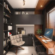 Interior Design Styles Guide is utterly important for your home. Whether you pick the Office Interior Design Ideas Work Spaces or Modern Home Office Design, you will create the best Office Design Corporate Workspaces for your own life. Home Office Setup, Home Office Space, Office Ideas, Desk Office, Study Office, Office In Bedroom Ideas, Tiny Home Office, Business Office Decor, Lawyer Office