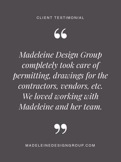 Client testimonial on our interior design services in Vancouver, Canada.