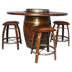Barrel Bistro Table by 2-Day Designs