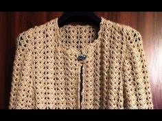 Crochet jacket - part - sleeves Crochet Shirt, Crochet Jacket, Crochet Cardigan, Knit Jacket, Sweater Cardigan, Plus Size Sweaters, Jacket Pattern, Baby Knitting, Crochet Patterns