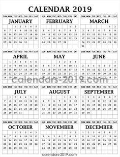 Calendario Mr Wonderful Julio 2019.17 Best 2019 Yearly Calendar Images