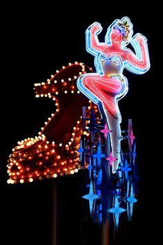 Lady Neon in Downtown Las Vegas.  http://warriorwriter.com