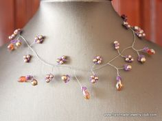 How to make a pinch and twist necklace. #Wire #Jewelry #Tutorials