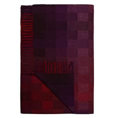 Buy Avoca Spectrum Lambswool Throw, Berry Online at johnlewis.com