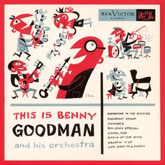 Jim Flora (best known for his distinctive and idiosyncratic album cover art for RCA Victor and Columbia Records during the 1940s and 1950s, was also a prolific commercial illustrator from the 1940s to the 1970s and the author/illustrator of 17 popular children's books.)