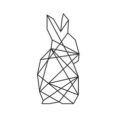 Printable Minimalistic Geometric Rabbits set of by ParagonProdigy Bunny Tattoos, Rabbit Tattoos, Dog Tattoos, Animal Tattoos, Animal Coloring Pages, Coloring Book Pages, Trendy Tattoos, Tattoos For Guys, Hase Tattoos