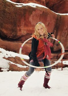 hooping in the snow at Red Rocks.  I will not only get to go to Red Rocks one day, I WILL hoop there!