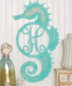 Look what I found on #zulily! Unfinished Seahorse Initial Wall Art by Unfinished Wood Co. #zulilyfinds