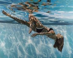 artbeautypaintings: Tumbling through the light - Eric Zener