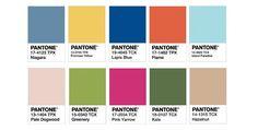 """primavera-verao-2017 Niagara 17-4123: Tom de azul estilo denim. Traz sofisticação ao look.  Primrose Yellow 13-0755: Narciso amarelo. Um amarelo radiante e inspirador.  Lapis Blue 19-4045: Lápis Azul (Lápis-lazúli). Uma cor que traz vitalidade ao clássico azul.  Flame 17-1462: Chama. Laranja avermelhado. """"Chama"""" atenção para o seu estilo.  Island Paradise 14-4620: Ilha Paraíso. Um azul que traz refrescância.  Pale Dogwood 13-1404: Planta com cor clara. Seria uma variação do """"Quartzo R"""