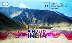 The mystical Magnetic Hill of #Ladakh has amazed people from all over the world! #DidYouKnow that this hill has an illusion of an upward slope, but in reality, its layout actually has a very slight downhill slope? Put your car in neutral and watch how this magical mountain lets you defy gravity. #IndeedIndia #Travel