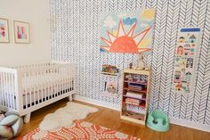 Office Turned Fresh & Cheery Nursery