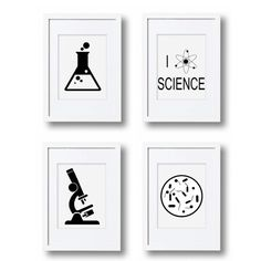 "Science Wall Art i love science - from the ""i love science"" wall art decor print"