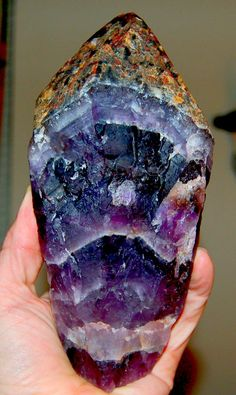 Auralite - 23 is the name given to a chevron form of Amethyst from the boreal forest area of Canada.