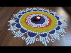 Rangoli designs with colours by Shital Daga/ sanskar Bharti rangoli Design Easy Rangoli Designs Videos, Easy Rangoli Designs Diwali, Rangoli Designs Latest, Simple Rangoli Designs Images, Rangoli Designs Flower, Small Rangoli Design, Rangoli Border Designs, Rangoli Ideas, Rangoli Designs With Dots