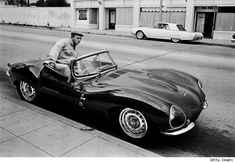May, 1963– Steve McQueen tooling around LA in his Jaguar XK-SS. — Photograph by © John Dominis/ Time & Life Pictures/Getty Images. McQueen and pals would often take their rides out on Mulholland Drive, in the early morning hours between midnight and 4 am, to quench their need for speed.
