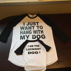 Matching T-shirt for Owner and Dog. by MyChildsDesigns on Etsy