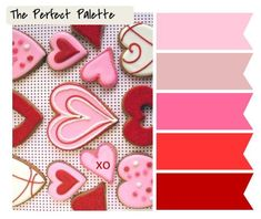 {Happy Valentine's Day}: A Palette of Reds Pinks - January Color Swap Valentines Day Cookies, Happy Valentines Day, Colour Schemes, Color Combos, Color Palettes, Happy V Day, Color Rosa, Red And Pink, Wedding Colors