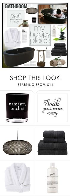 """""""My Happy Place"""" by fassionista ❤ liked on Polyvore featuring interior, interiors, interior design, home, home decor, interior decorating, Whiteley, Damselfly Candles, Fountain and Christy"""