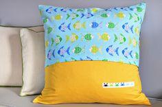 Bijou Lovely: don't be crabby pillow back