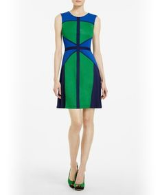 Sometimes BCBG can be a bit much but I really like the illusion of hourglass created by this dress!