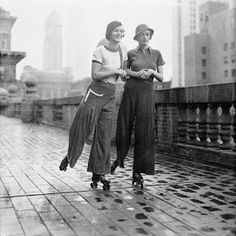 Rollerskating in NY 1933