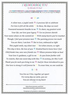 I Remember You - A Poem | The Grief Toolbox