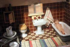 Little bathroom. Suomenlinna Toy Museum, Helsinki, Finland. #bathroom