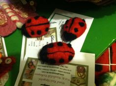 Lady bug pins by GlennaEclectic on Etsy
