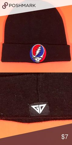 Grateful Dead Steal Your Face beanie Steal Your Face logo on black beanie Grateful Dead Other