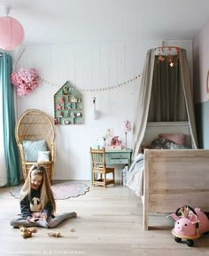 124 best Slaapkamer meisjes images on Pinterest | Child room ...